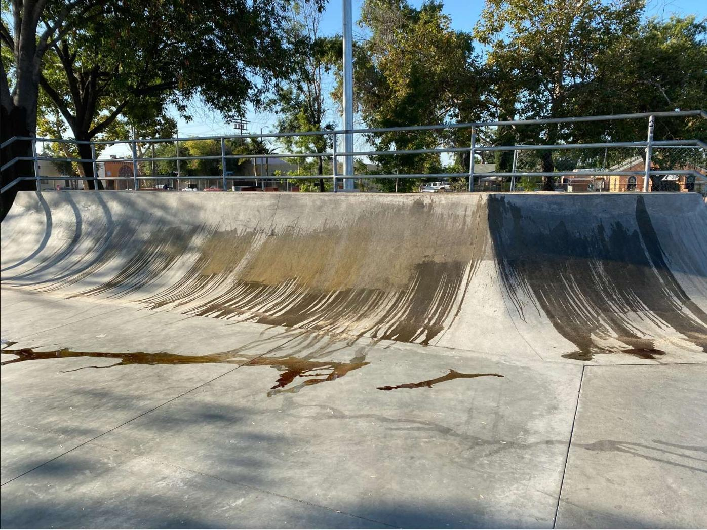 Chevy Chase skatepark quarter-pipe