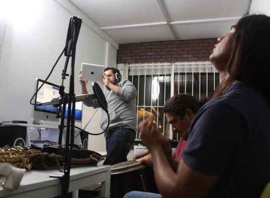 It's a store. It's a radio station. It's Espacio 1839 in Boyle Heights