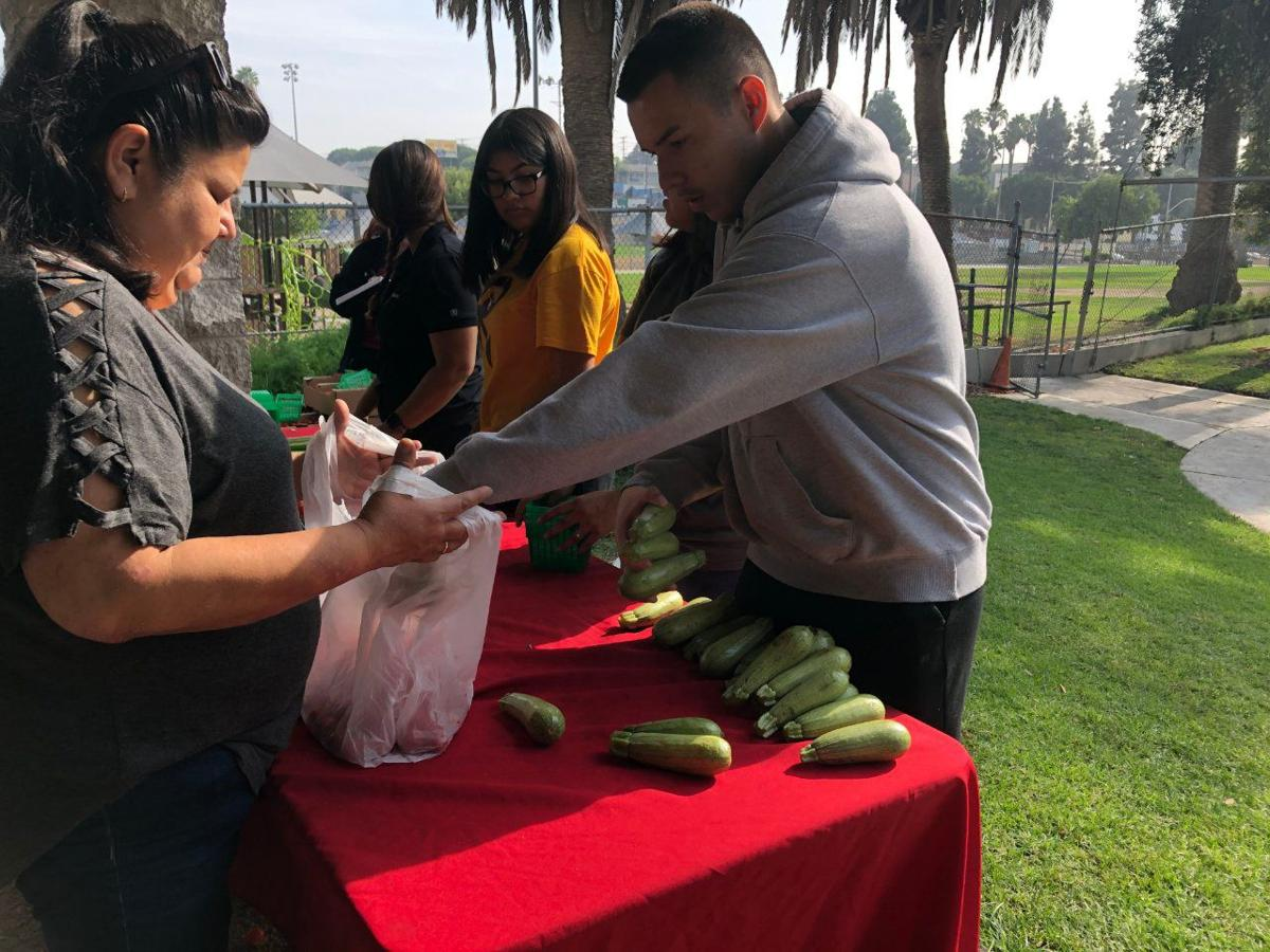 Roosevelt HS Students Hosted Free Farmers Market for Boyle Heights Senior Center
