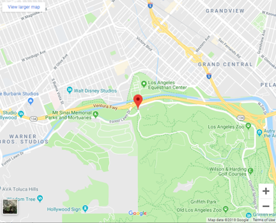 Google map of 5600 Zoo Drive griffith park