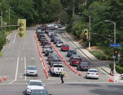 Coronavirus traffic jam
