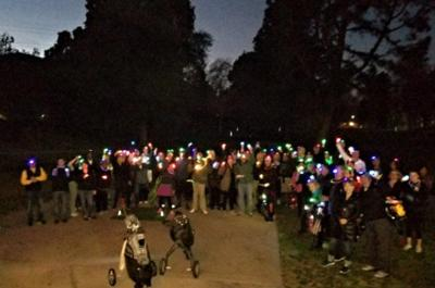 Glow ball, anyone? Glowing golfers light up the Los Feliz Golf Course