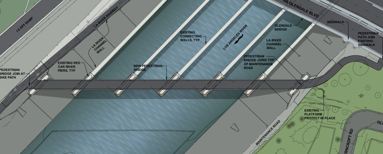 Layout of Red Car Pedestrian Bridge