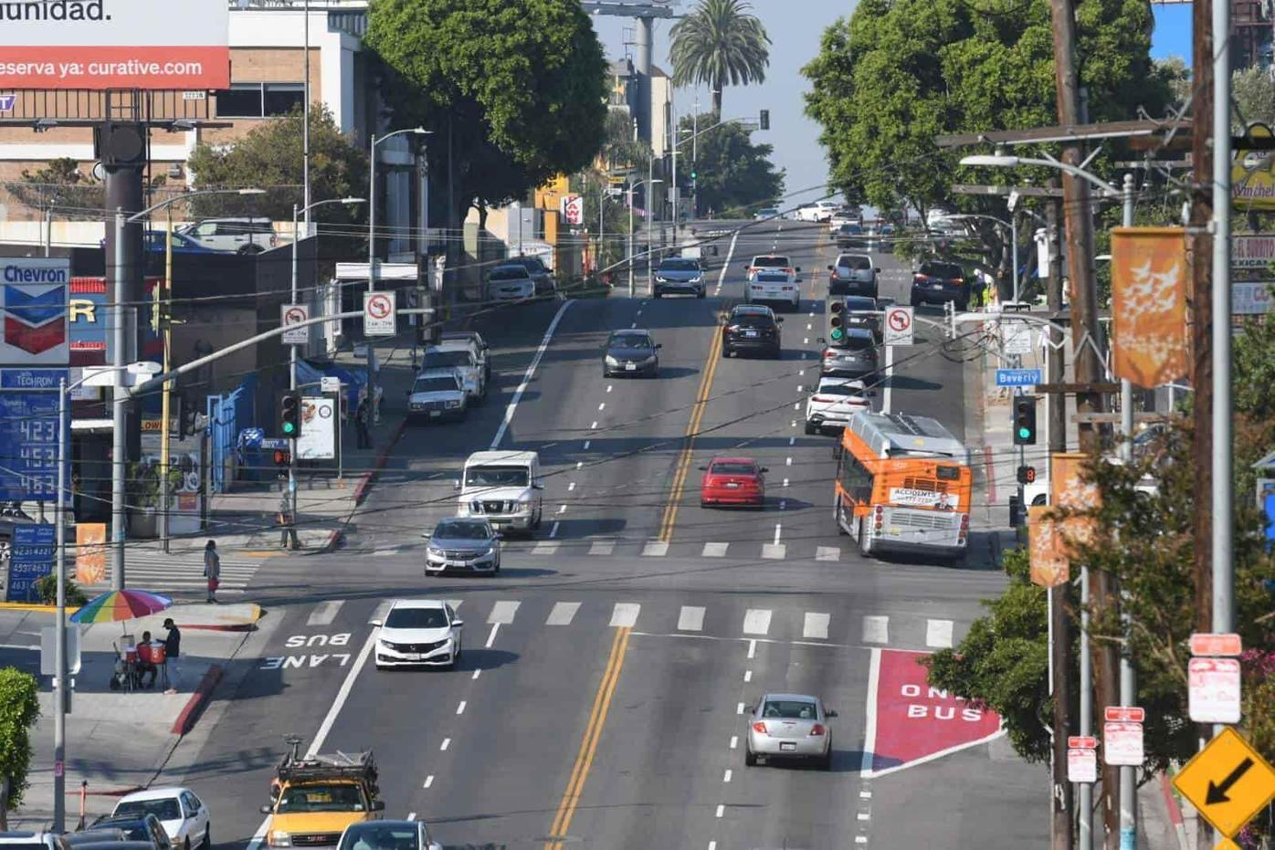 Alvarado dedicated bus lanes
