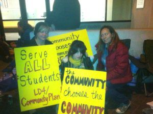 Echo Park parents pull an all nighter at school district headquarters