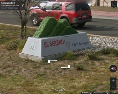 Google street view of el sereno monument sign