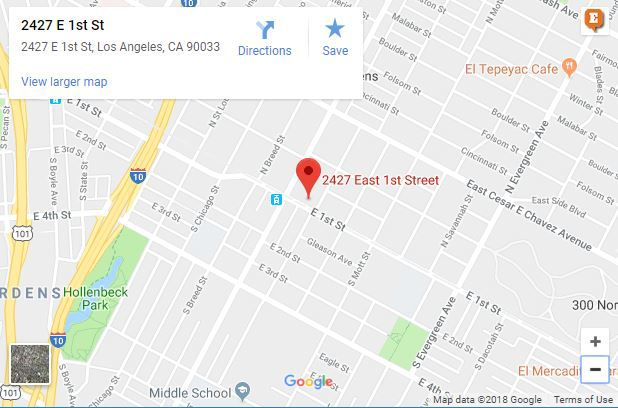 Fire hits Boyle Heights home on 1st Street