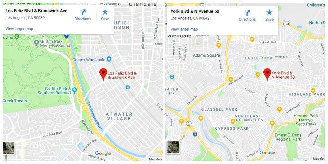 Suspects in Saturday night shootings in Atwater Village and Highland Park remain at large