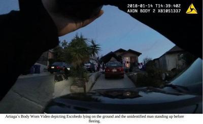 Police body cam of El Sereno suspect in the 3400 block of Amethyst