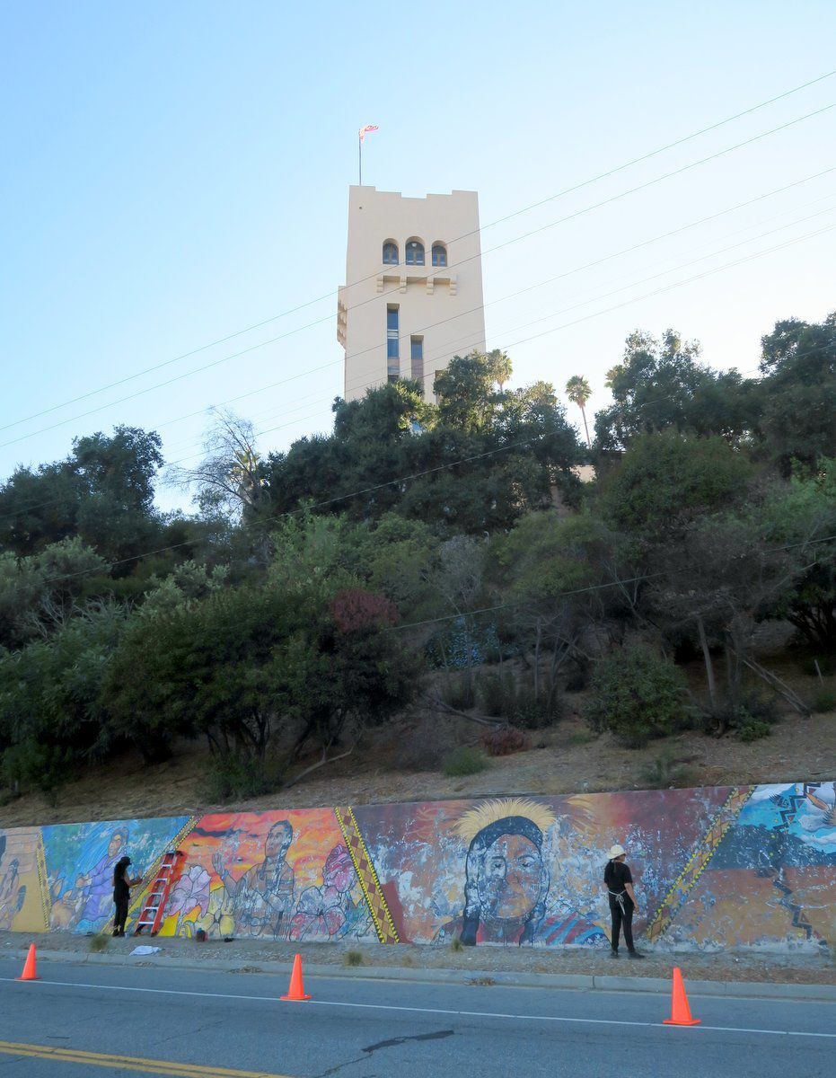 Restoration underway for Southwest Museum Mural