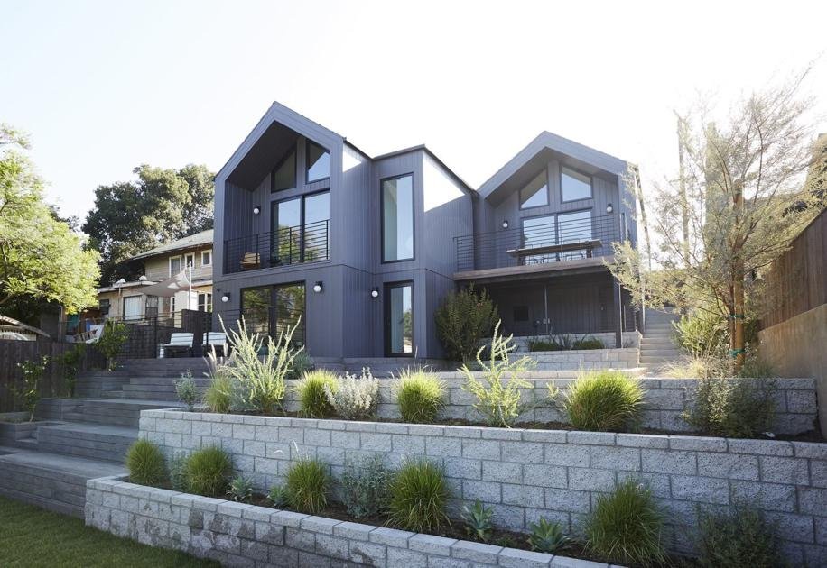 Stunning and architecturally sophisticated modern with gorgeous views on a quiet Eagle Rock hillside