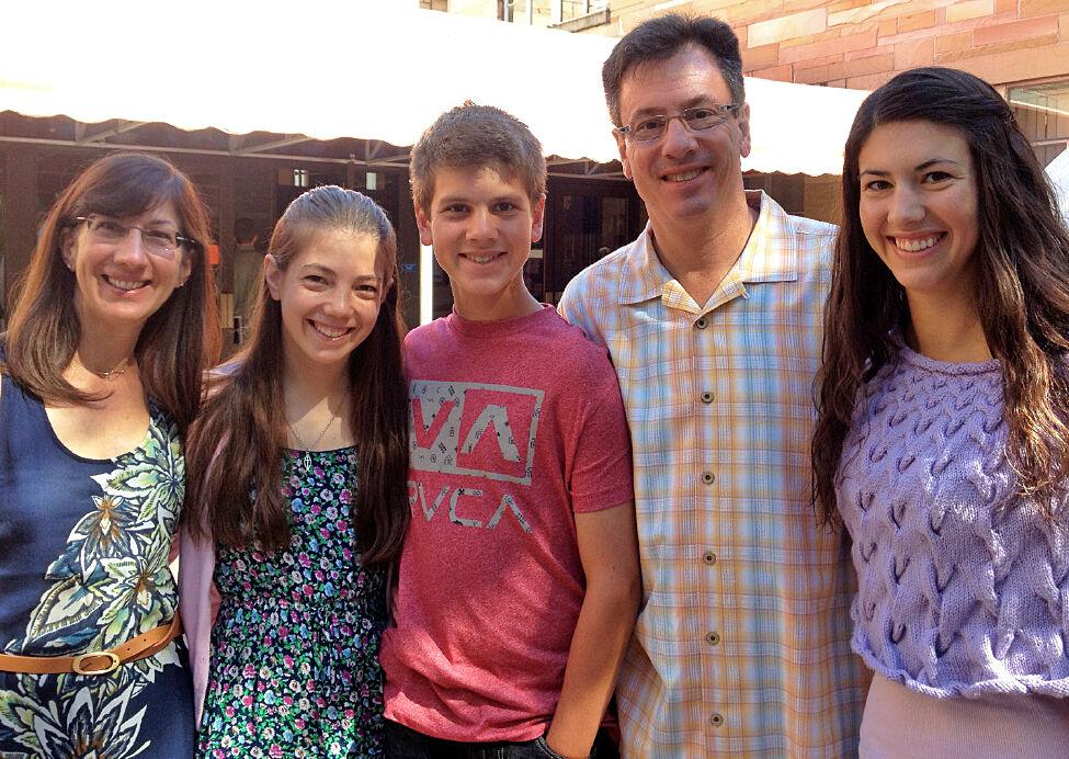 Cathy, Grace, Paul, and Sara Kupiszewski at St. Augustine Parish in Gainesville