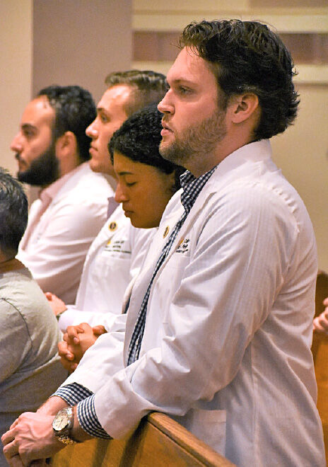 UCF medical students attending the Catholic Medical Association Conference