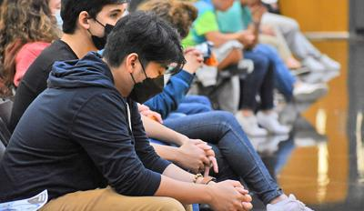 Youth spend time in silent prayer