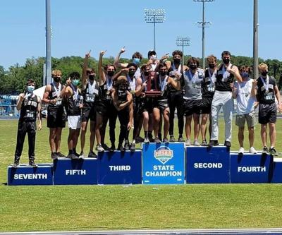 Bishop Moore Catholic High School Boys'Track and Field team took first place in the State Championships held at the University of North Florida in Jacksonville May 8. This is the first time in Hornet history for the celebrated win.