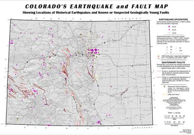 Colorado earthquake activity 1962-2006