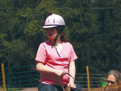 Rayne Adams rides Roxie at Equigrace