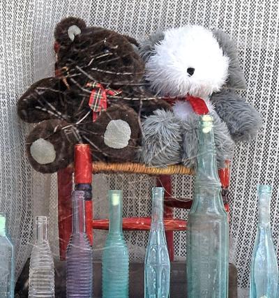 Teddy bear and toy dog