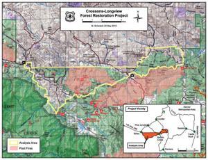 US Forest Service Announces CrossonsLongview Restoration Project - Us forest service maps