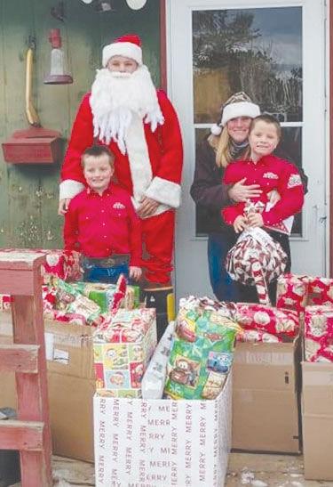 Santa hands out joy