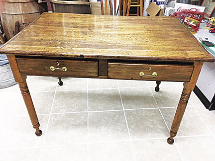 antique chestnut desk