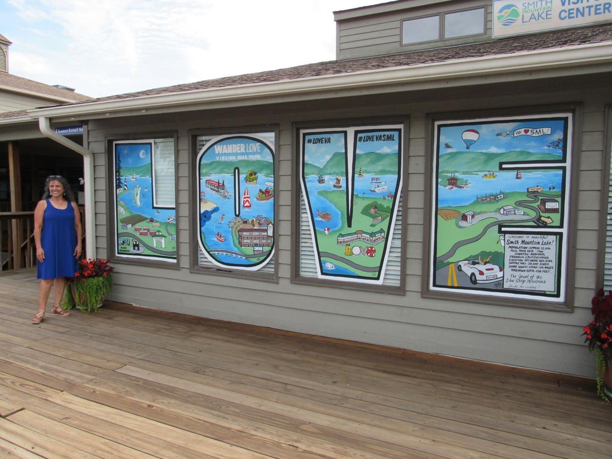 LOVEwork mural at Bridgewater