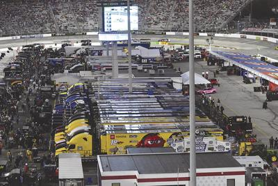 Fans can take a trip around the track for a holiday donation