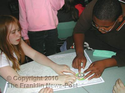 Gereau students learn to read maps, compasses
