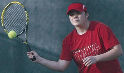 Franklin County girls advance in tennis tournament by forfeit