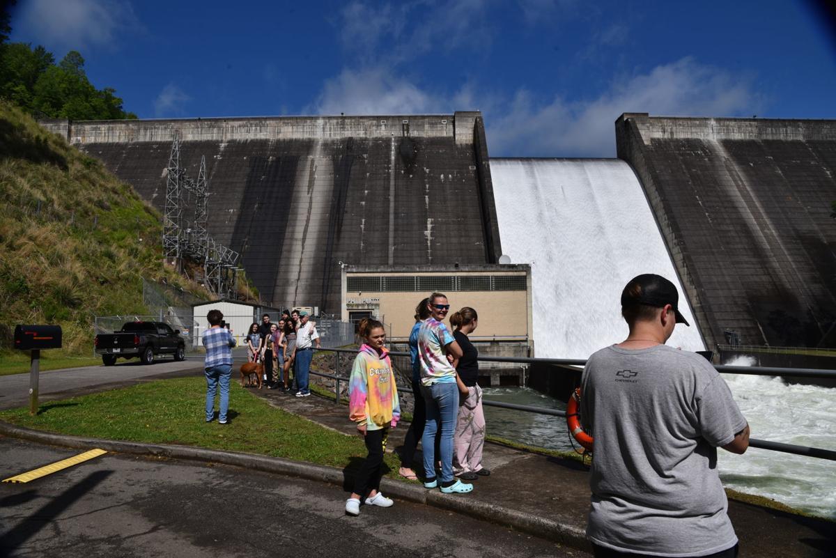 Philpott Dam spillway