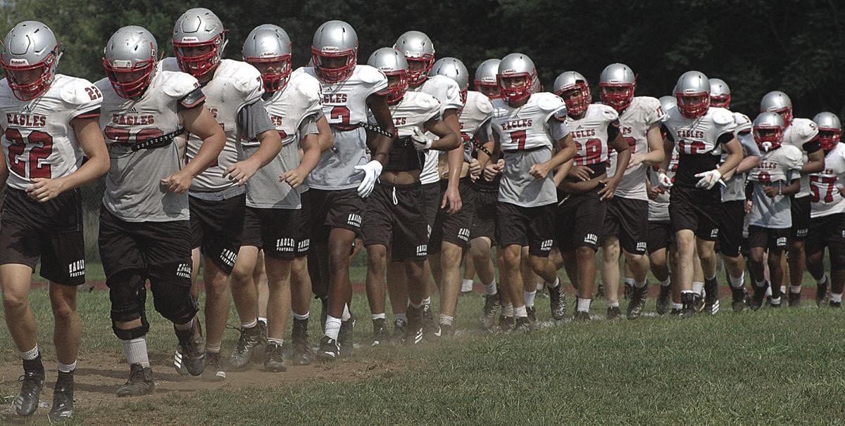 Eagles Football Drills Reach First Full Week