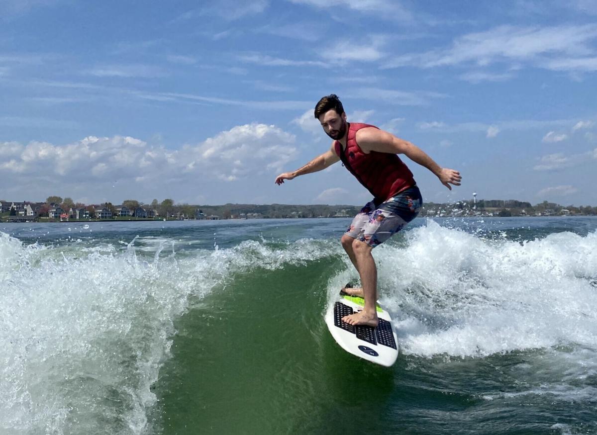 Wakesurfing at SML