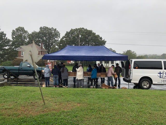 Church distributes thousands of pounds of food