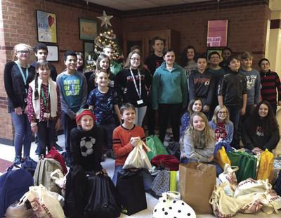 Middle school students help homeless