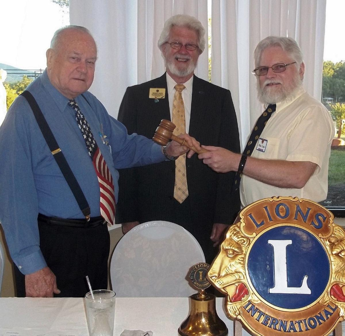 Moneta Lions pass gavel