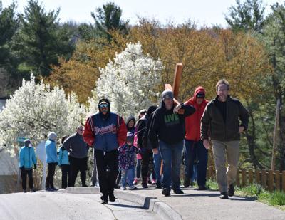 Churches participate in annual cross walk