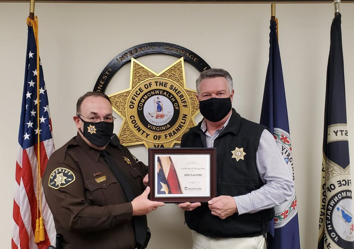 Franklin County Sheriff's deputy receives recognition