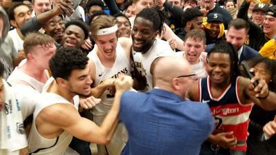 Men's basketball win over MSSU