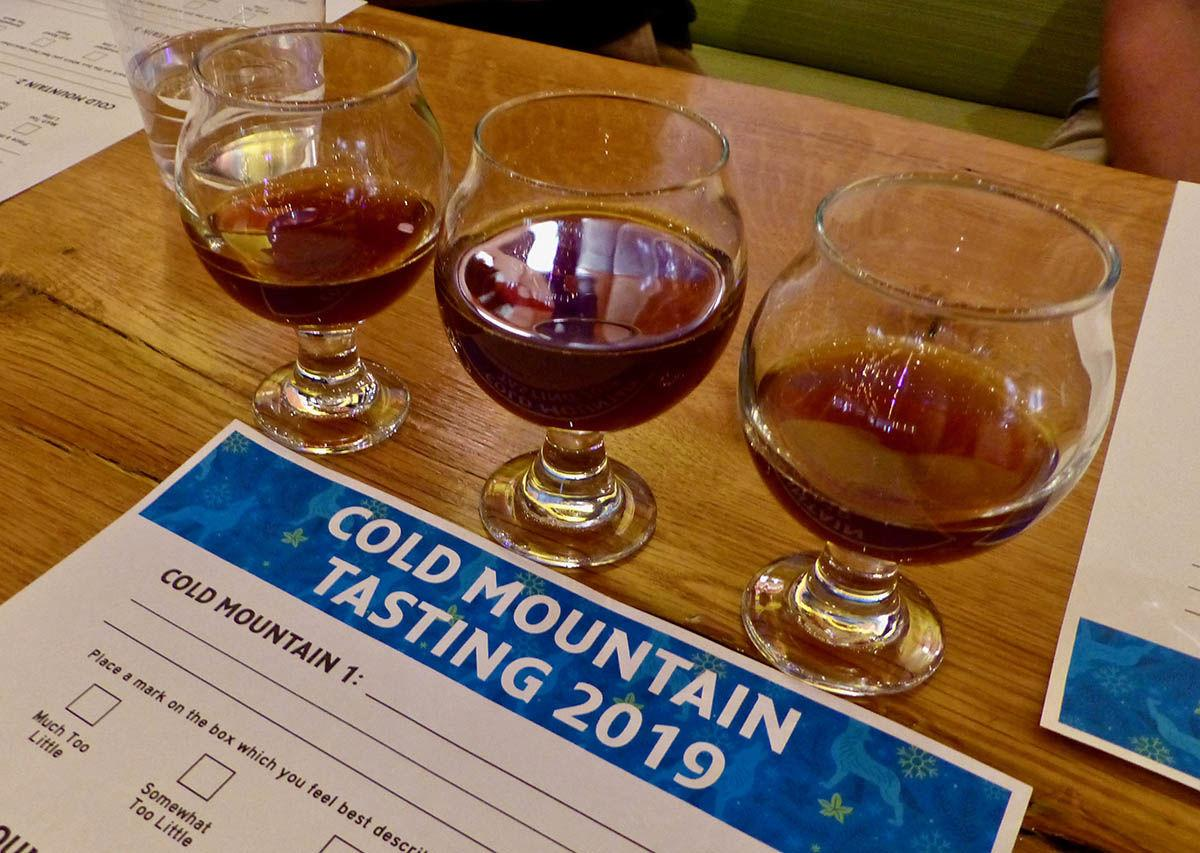 Cold Mountain Winter Ale tasting May 2019