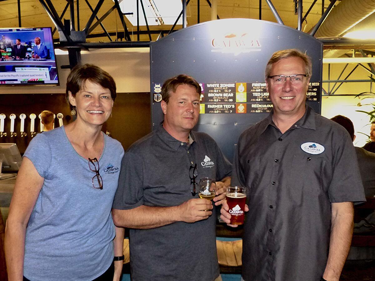 Catawba Brewing owners Jetta, Scott and Billy Pyatt