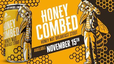 Catawba's Honey Combed Honey Nut Breakfast Stout release 11-15-19