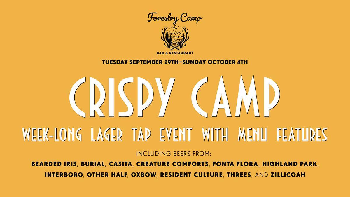 Burial's Forestry Camp lager celebration begins 9-29-20