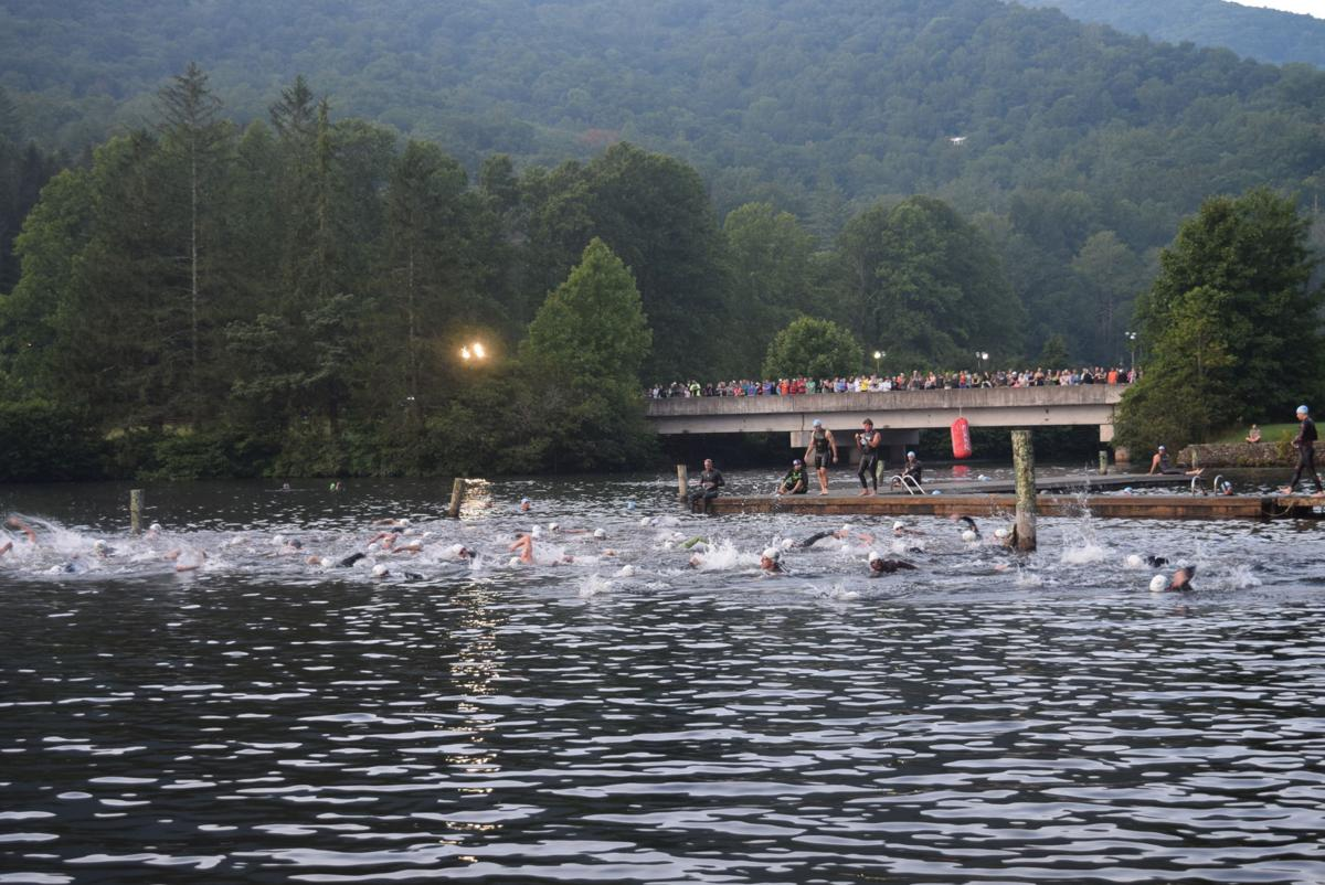Scenes from the Lake Logan Multisport Event