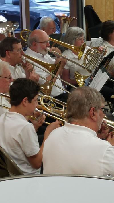 Haywood Community Band trombones