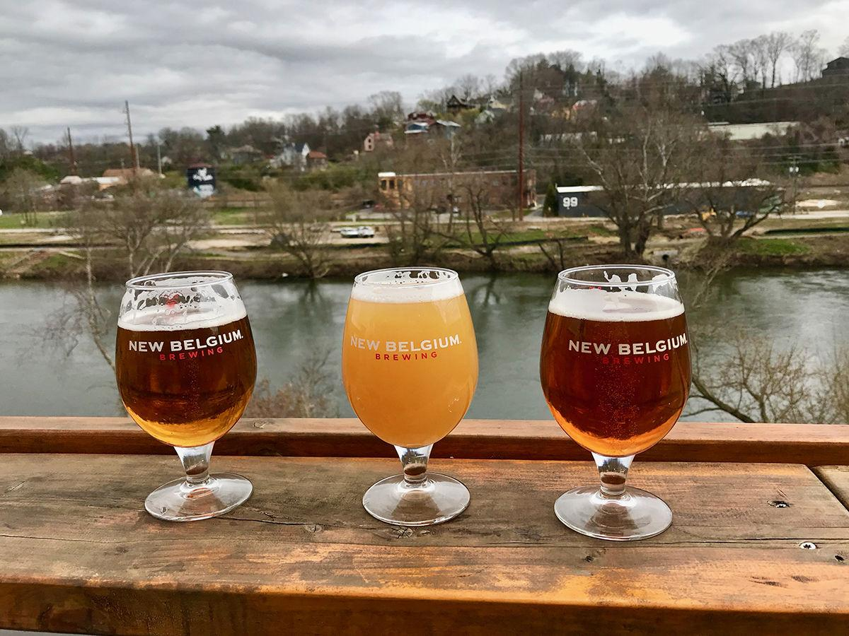 New Belgium Asheville's Liquid Center, overlooking the French Broad River