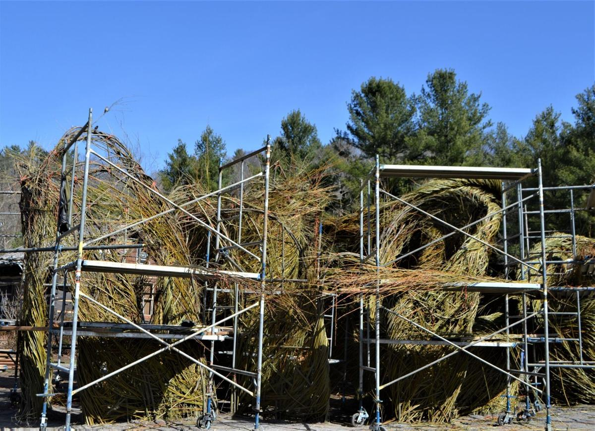stick sculpture construction