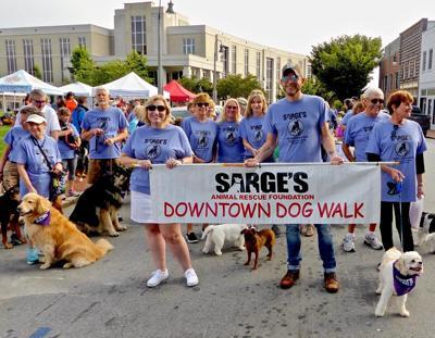 Sarge's 2019 Dog Walk start - Waynesville
