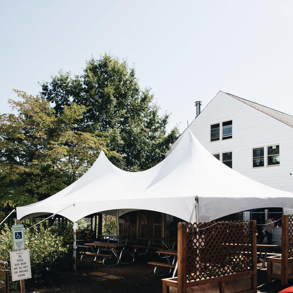 Burial's Forestry Camp outdoor covered seating 9-20