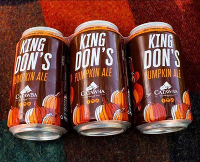 Catawba Brewing King Don's Pumpkin Ale cans