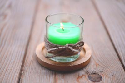 Green candle Pepper Mint Aroma candle